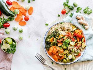 vegetais nas refeições principais