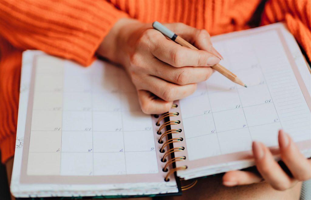 Planeia a sua semana