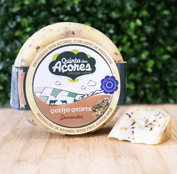 quinta dos açores queijo com sementes