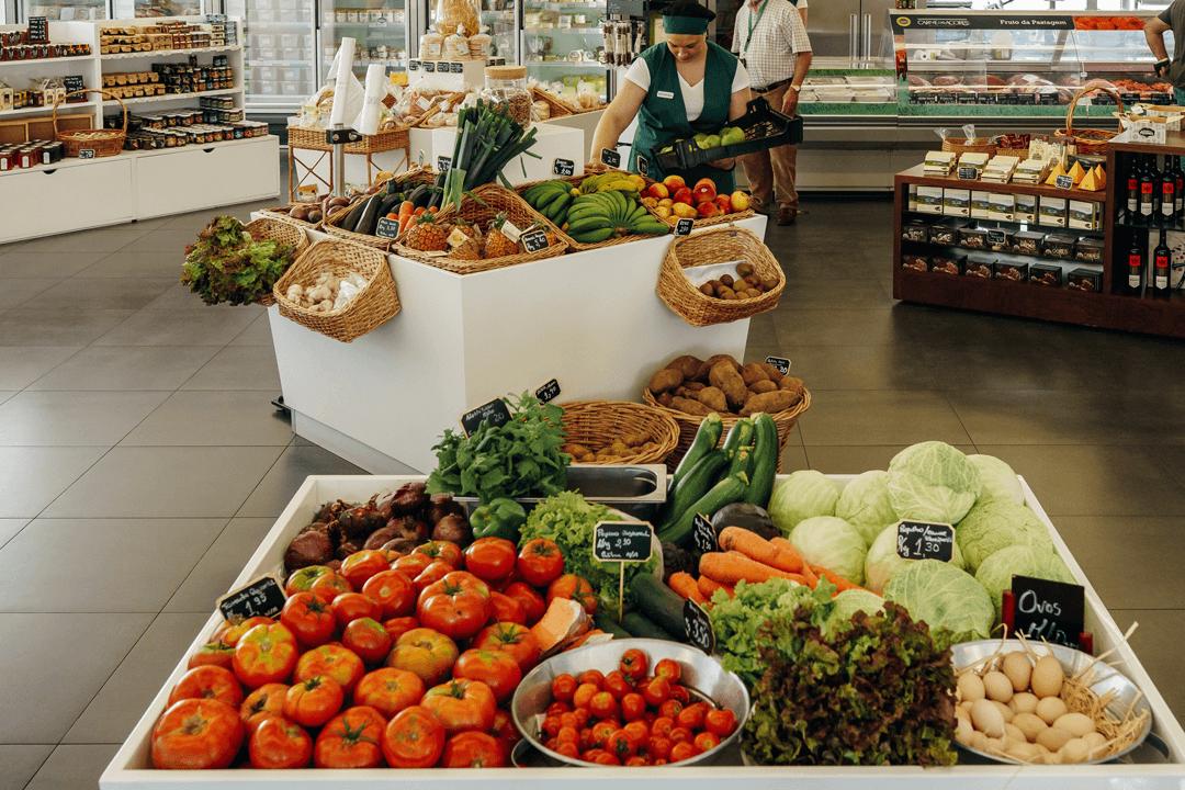 fruta e verduras de produtores locais dos açores